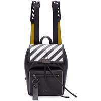 Off White Black And Yellow Diag Backpack