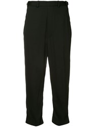 Neil Barrett Twisted Seam Cropped Trousers Black