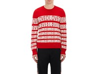 Gucci Men's Loved Stripe Wool Sweater Red No Color