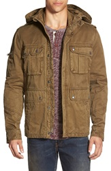 Lucky Brand Hooded Military Jacket Moss