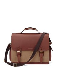 Aspinal Of London Shadow Convertible Briefcase Brown