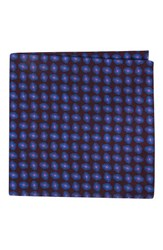 Ted Baker Men's London Neat Plaid Double Sided Silk Pocket Square