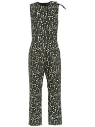 Andrea Marques Printed Jumpsuit Black