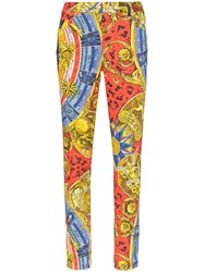 Moschino Greek Gods Print Skinny Jeans Multicolour