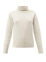 Margaret Howell Roll Neck Cashmere Sweater Cream