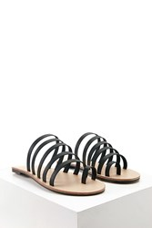 Forever 21 Faux Leather Toe Loop Sandals