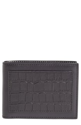 Alexander Wang Men's Croc Embossed Leather Bifold Wallet