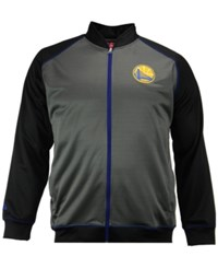Majestic Men's Golden State Warriors Wow Track Jacket Charcoal Black