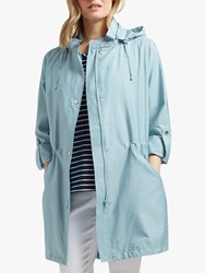 Four Seasons Lightweight Hooded Parka Kingfisher Blue
