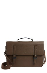 5ff4b24e70 Ted Baker London Country Crossgrain Messenger Bag Brown Chocolate