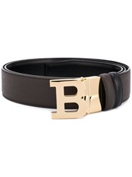 Bally B Logo Buckle Belt Brown