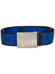 Givenchy Logo Buckle Belt Blue