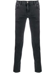 Dolce And Gabbana Skinny Faded Jeans Grey