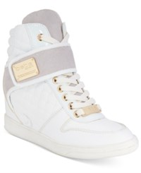 Bebe Sport Colby Wedge Sneakers Women's Shoes White