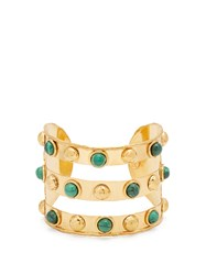 Sylvia Toledano Tribal Malachite And Gold Plated Cuff Green