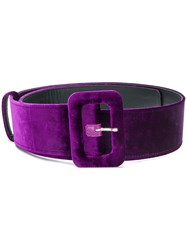 Attico Classic Buckled Belt Pink And Purple