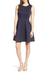 Draper James Love Circle Fit And Flare Dress Navy