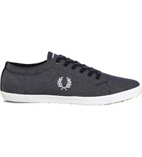Fred Perry Kingston Cotton Plimsolls Navy Chambray