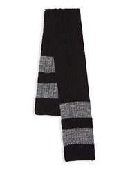 Bickley Mitchell Classic Textured Scarf Black