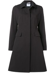 Aspesi Buttoned Trench Coat Black