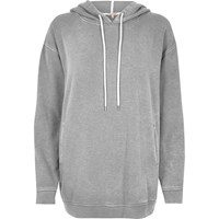 River Island Womens Grey Oversized Hoodie