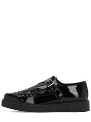 Underground 30Mm Buckled Patent Leather Loafers Black
