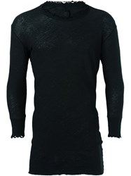 Thom Krom Distressed Fine Knit Jumper Black