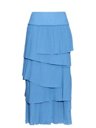 Sonia Rykiel Tiered Pleated Cotton Skirt