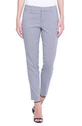 Liverpool 'S Jeans Company Kelsey Check Trousers Black White Mini Check