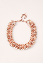 Missguided Matte Chunky Chain Necklace Rose Gold