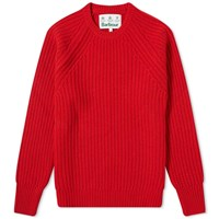 Barbour Tynedale Crew Knit Red