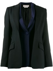 Alexander Mcqueen Double Placket Blazer Black