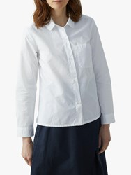 Toast Poplin Round Collar Shirt White