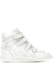 Isabel Marant Bilsy Hi Top Sneakers White