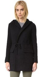 James Perse Open Hoodie Coat Black