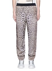 3.1 Phillip Lim Reversible Leopard Print Satin Pajama Pants Animal Print Blue