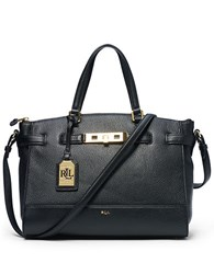Lauren Ralph Lauren Darwin Leather Satchel Black