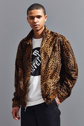 Urban Outfitters Uo Barracuda Micro Faux Fur Jacket Honey