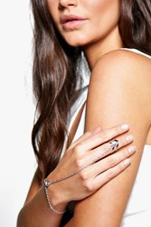 Boohoo Twist Ring Hand Harness Silver