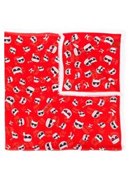 Karl Lagerfeld Printed Scarf Red