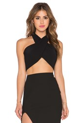 Milly Wrap Halter Black