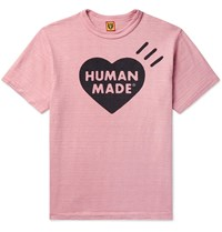 Human Made Logo Print Cotton Jersey T Shirt Pink