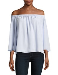 French Connection Three Quarter Sleeve Off The Shoulder Blouse Salt Water