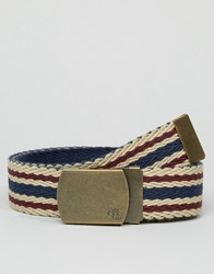 Abercrombie And Fitch Reversible Fabric Belt Blue