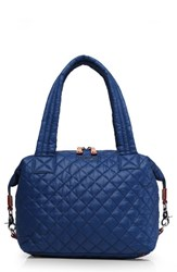 M Z Wallace Mz 'Medium Sutton' Quilted Oxford Nylon Shoulder Tote Blue Estate Blue