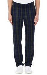 Marc By Marc Jacobs Plaid Stanley Trousers Blue