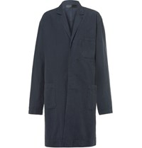 Haider Ackermann Unstructured Cotton And Linen Blend Trench Coat Charcoal