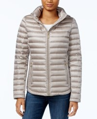 Tommy Hilfiger Hooded Puffer Jacket Only At Macy's Gold