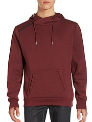 Sovereign Code Long Sleeve Hoodie Burgundy