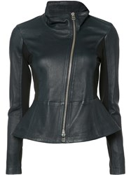 Veronica Beard Off Centre Zip Jacket Black